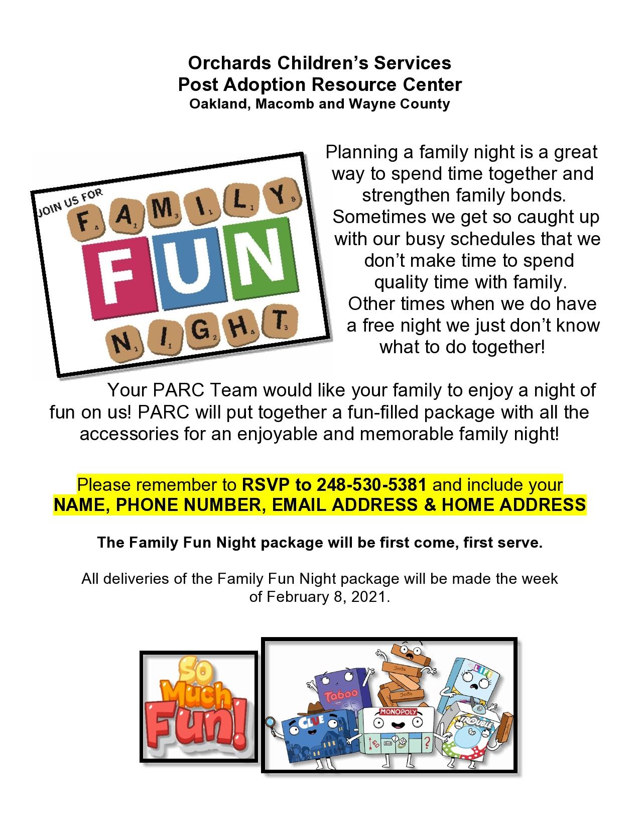 Family Fun Night (February 11 2021)